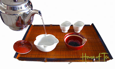Preparation of Japanese Sencha tea